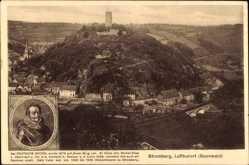 Postcard Stromberg im Hunsrück, Der Deutsche Michel, Ortschaft, Berg