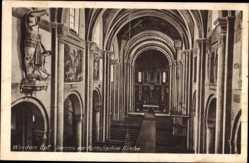 Postcard Weiden Oberpfalz, Katholische Kirche von innen gesehen