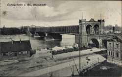 Postcard Ludwigshafen am Rhein Rheinland Pfalz, Die Rheinbrücke