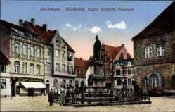 Postcard Gardelegen im Altmarkkreis Salzwedel, Marktplatz, Kaiser Wilhelm Denkmal