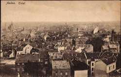 Postcard Aachen in Nordrhein Westfalen, Totalansicht der Ortschaft, Häuser