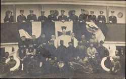 Foto Ak Port Said Ägypten, Deutsches Schiff, Besatzung, Koch, Ägypter