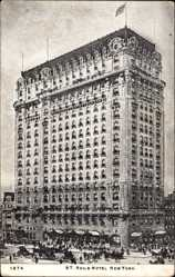 Postcard New York City USA, St. Regis Hotel, Hochhaus, Building