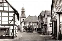 Foto Ak Lemförde in Niedersachsen, Hauptstraße, Apotheke, Kirche