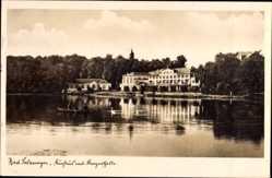 Postcard Bad Salzungen im Wartburgkreis, Blick auf das Kurhaus mit Konzerthalle