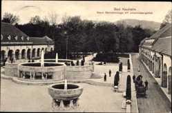 Postcard Bad Nauheim im Wetteraukreis Hessen, Sprudelanlage m. Johannisbergblick