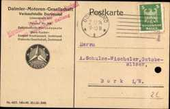 Postcard Dortmund im Ruhrgebiet, Daimler Motoren Gesellschaft