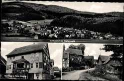 Postcard Armsfeld Bad Wildungen in Nordhessen, Pension Knoche, Straßenpartie