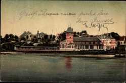 Postcard Hansestadt Bremen Vegesack, Haus Strandlust vom Wasser gesehen