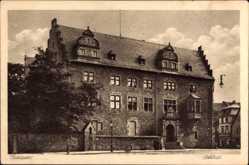 Postcard Gießen an der Lahn Hessen, Partie am Schloss, Außenansicht, Fassade