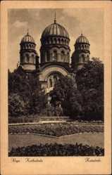 Postcard Riga Lettland, Ansicht der Kathedrale, Katedrale