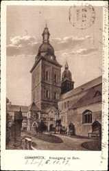 Postcard Osnabrück in Niedersachsen, Blick auf den Kreuzgang des Doms