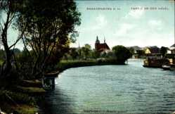 Postcard Brandenburg an der Havel, Marienberg Restaurant, Kirche, Havel