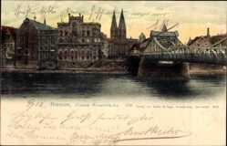 Postcard Hansestadt Bremen, Große Weserbrücke mit Umgebung