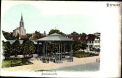 Postcard Bad Pyrmont in Niedersachsen, Pavillon am Brunnenplatz