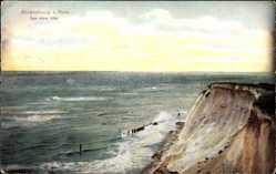 Postcard Ahrenshoop in Pommern, Das hohe Ufer, Abhang, Meerblick