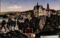 Postcard Sigmaringen an der Donau Baden Württemberg, Blick auf den Ort, Schloss