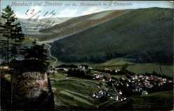Postcard Manebach Ilmenau Thüringen, Blick von der Marienquelle mit Emmastein