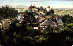 Postcard Elgersburg im Ilm Kreis Thüringen, Blick auf den Ort und das Schloss