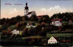 Postcard Amberg in der Oberpfalz Bayern, Blick auf den Mariahilfberg, Kirche