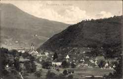Postcard Oppenau Renchtal Baden Württemberg, Totalansicht vom Ort, Kirchturm