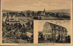 Postcard Masserberg im Thüringer Schiefergebirge, Logirhaus z. Reichspost, Hugo Enders