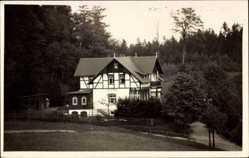 Foto Ak Hayn Oybin in Sachsen, Blick auf das Haus Haynfried