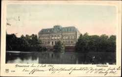 Postcard Düsseldorf am Rhein, Blick vom Wasser auf das Ständehaus