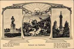 Postcard Fehrbellin in Brandenburg, Denkmal, Säule, Schlacht von Fehrbellin