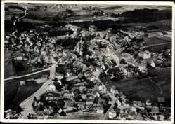 Postcard Bad Steben im Frankenwald Bayern, Fliegeraufnahme, Gesamtansicht