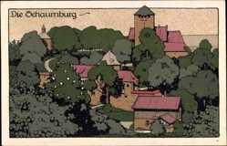 Steindruck Ak Rinteln an der Weser Kreis Schaumburg, Ansicht der Schaumburg