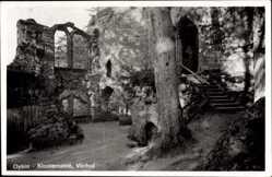 Postcard Oybin in Sachsen, Ansicht Vorhof der Klosterruine
