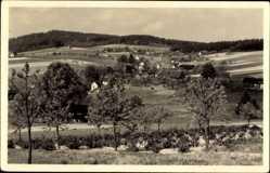 Postcard Oppach in Sachsen, Blick auf Ortsteil Eichen, Totalansicht