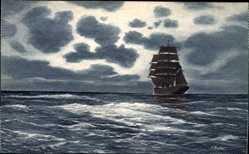Künstler Ak Segelschiff fährt über offenes Gewässer, NPG K. 271