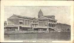 Postcard Buenos Aires Argentinien, Hippodrome Argentin, Pferderennsportarena