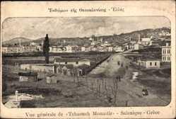 Postcard Saloniki Griechenland, Vue générale de Tchaouch Monastir