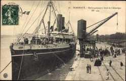 Postcard Bordeaux Gironde, Paquebot Atlantique, Messageries Maritimes, Embarquement