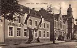 Postcard Köln am Rhein, Kölner Hof mit Post und Rathaus