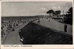 Postcard Ostseebad Kühlungsborn im Kreis Rostock, Die Strandpromenade