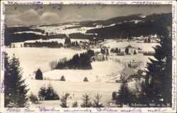Postcard Titisee Neustadt im Breisgau Hochschwarzwald, Verschneite Ortschaft