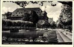 Postcard Konstanz am Bodensee, Gondelhafen und Konzil, Liegende Boote