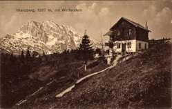 Postcard Mittenwald im Kreis Garmisch Partenkirchen, Kranzberg mit Wetterstein