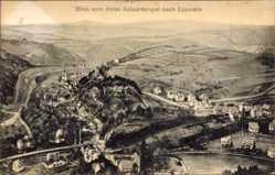 Postcard Eppstein Hessen, Blick vom Hotel Kaisertempel zum Ort