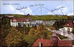 Postcard Konstanz am Bodensee, Krankenhaus, Vogelschau