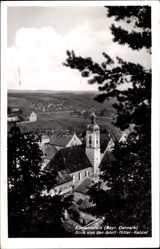 Postcard Altmannstein Oberbayern, Juraort in mitten von Berg und Wald, Kirche