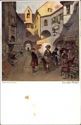 Künstler Ak Stubenrauch, Hans, Ein stiller Winkel, Krämer