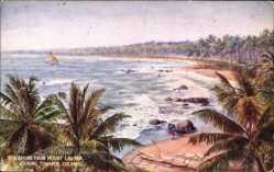 Künstler Ak Colombo Ceylon Sri Lanka, Sea Shore, Mount Lavinia, Tuck 8938