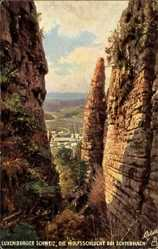 Künstler Ak Beroud, Echternach Luxemburg, Wolfsschlucht, Tuck 744