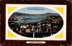 Präge Passepartout Ak Konstantinopel Istanbul Türkei, Vue panoramique du Port