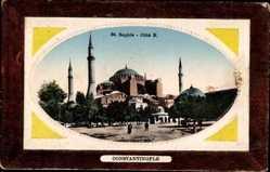 Präge Passepartout Ak Konstantinopel Istanbul Türkei, St. Sophie, Côté Nord